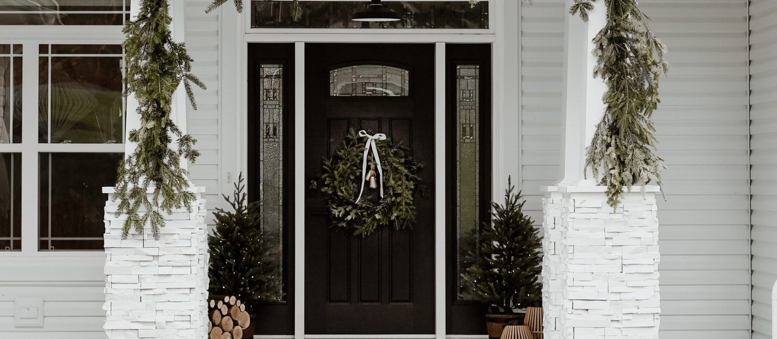 Classic Holiday Front Porch