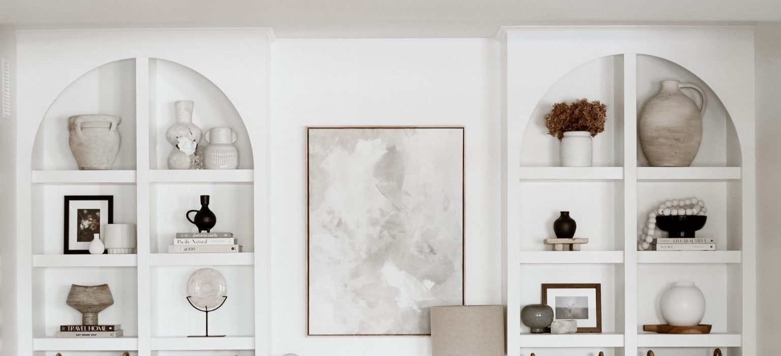 Adding Character to Our Home with Built-in Cabinets + Shelves